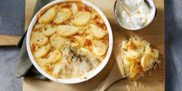 Basisrecept: MAGGI Ovenschotel Zuurkool-crème fraîche met gehakt