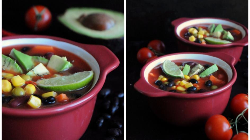 Wegetariańska zupa meksykańska