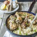 Řecké kuře s rýží z jednoho hrnce