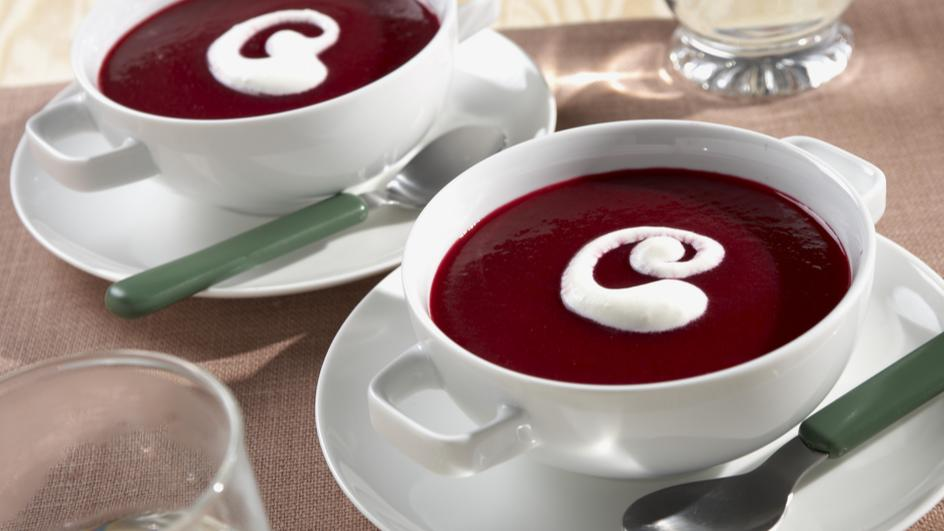 Rote Bete Cremesuppe