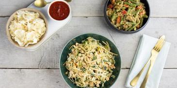 Bami met kipfilet en verse groenten