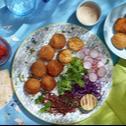 Falafel van zoete aardappel