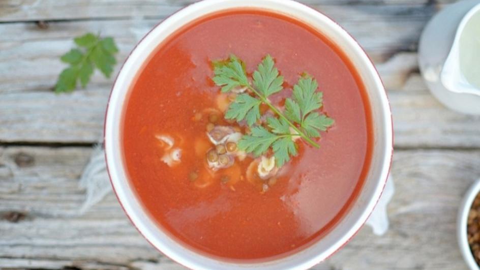 Pomidorówka z soczewicą
