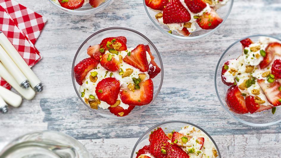 Erdbeer-Ricotta-Creme