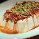 Silk Tofu with Oyster Sauce and Crispy Dried Shrimps
