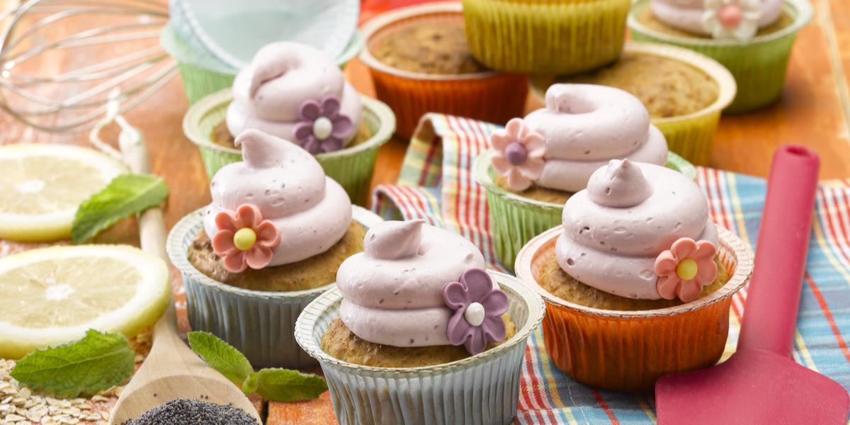 Cupcakes de Frambuesa sin Azúcar