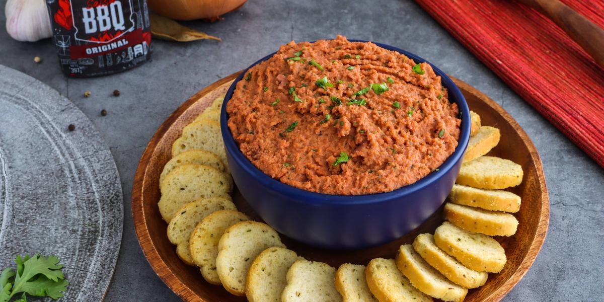 Dip de Chorizo con salsa BBQ