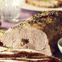 Schab pieczony z rozmarynem i musztardą