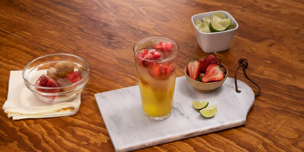 Soda de mango con limón