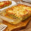 Lasagne mit Spinat, Frischkäse & Tomate