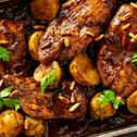 Coriander & Garlic Roasted Chicken With Baby Potato
