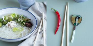Pikantna zupa chińska z ostrą papryką