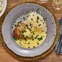 Thunfisch-Filets an Petersilien-Hollandaise