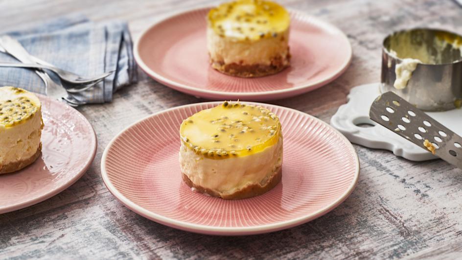 No-Bake Maracuja-Joghurt-Törtchen