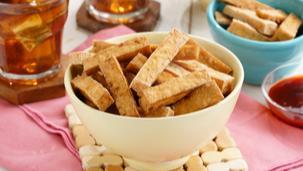 Magical Tofu Fries with Banana Catsup and Savor