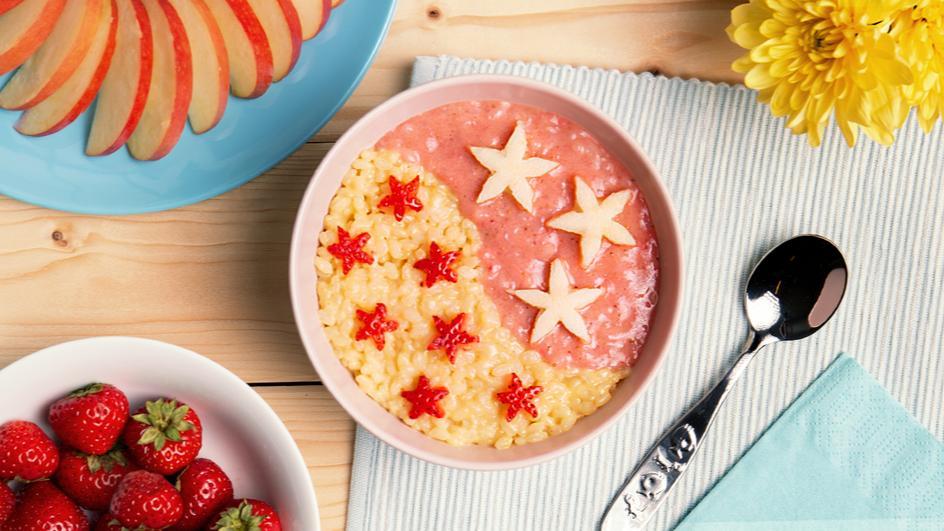 Orangen-Erdbeer-Milchreis