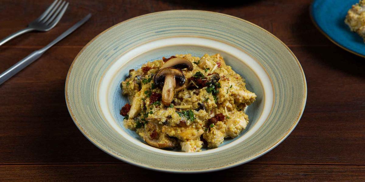 arroz cremoso con champiñones