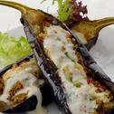 Stuffed Eggplant Gratin with Vegetables