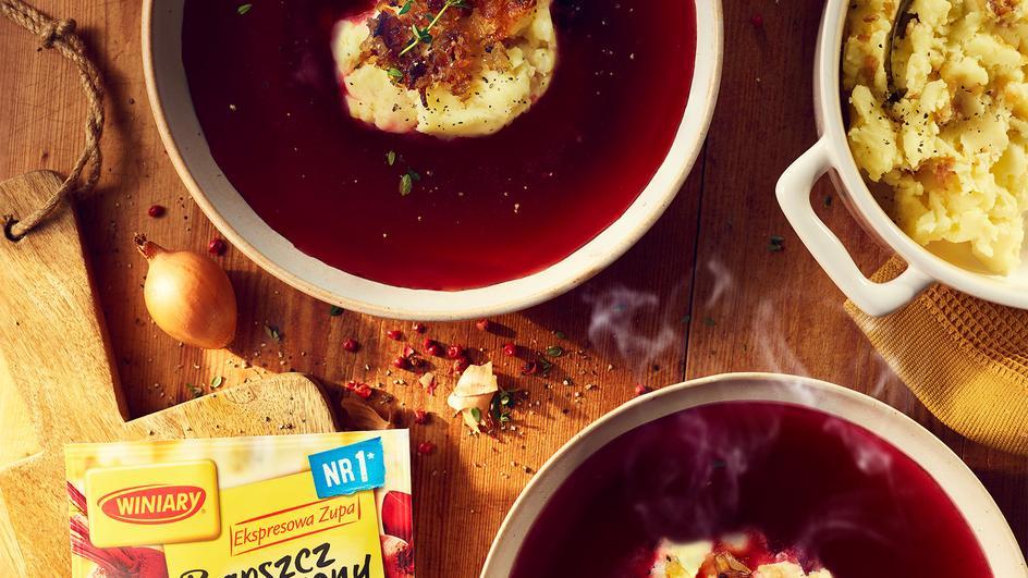 Barszcz czerwony WINIARY z tłuczonymi ziemniakami