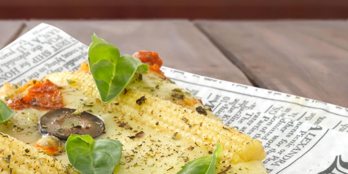 Pizza de Avena con Verduras