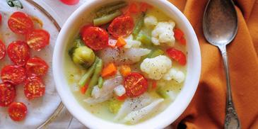 Zupa rybna ze śmietaną