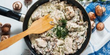 Piletina u umaku od gljiva