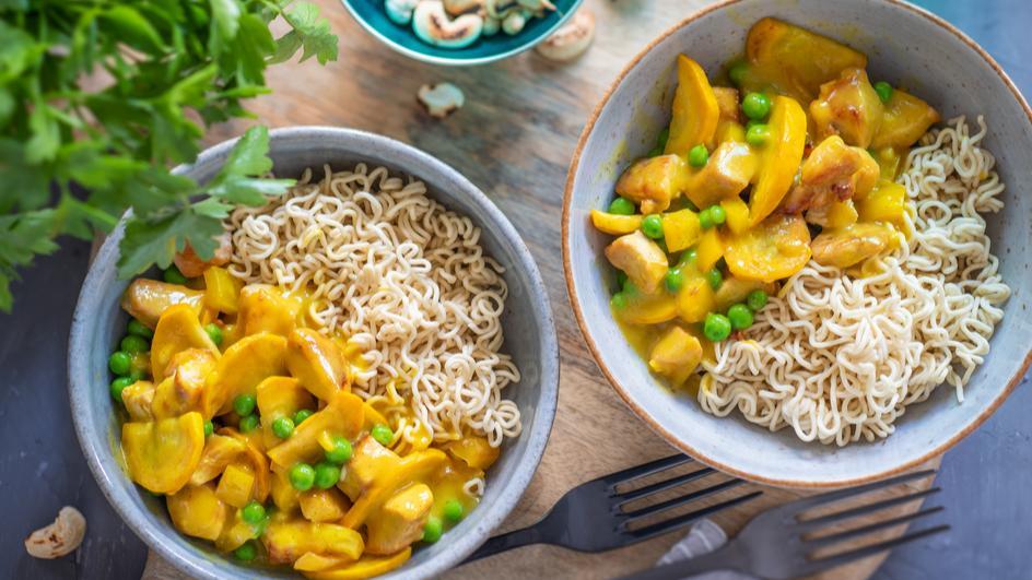Hähnchen Curry Bowl