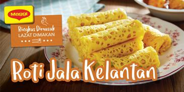 Quick Kelantanese Net Crepe (Roti Jala)