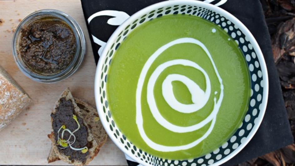 Zupa krem z zielonego groszku, czyli zielono mi