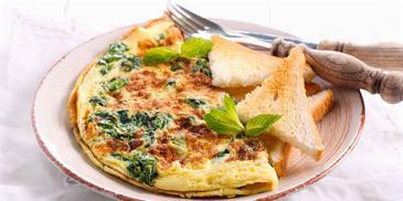Frittata (Cheesy Capsicum Omlette) Recipe