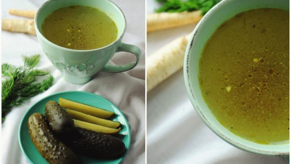 Zupa ogórkowa na rosole