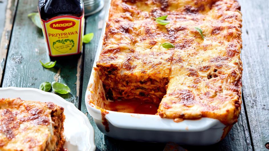 Lasagne ze szpinakiem i czosnkowym beszamelem
