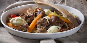 Αρνάκι στο φούρνο με λαχανικά