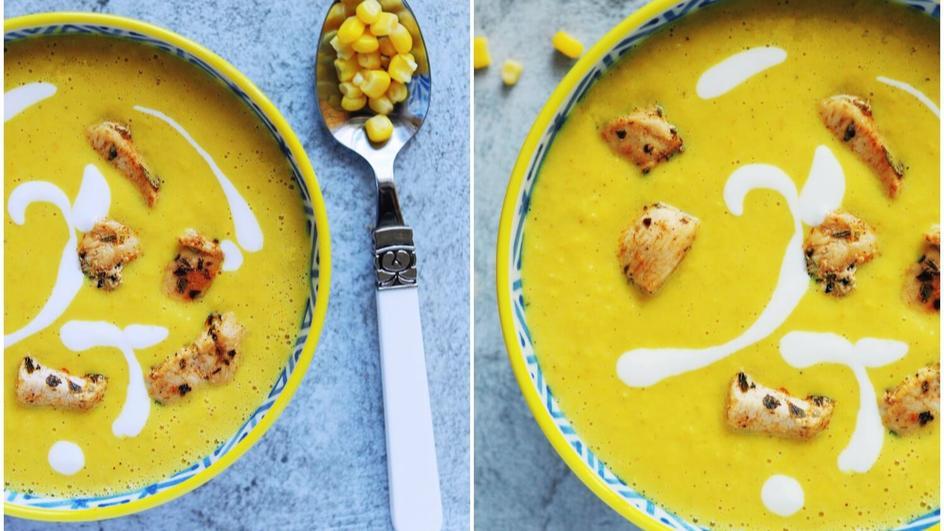 Zupa krem z kukurydzy z kurczakiem