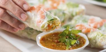 Popiah Vietnam dengan Sos Pedas