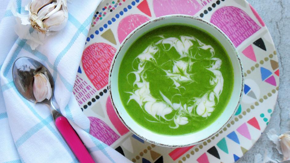 Zupa szpinakowa dla dzieci