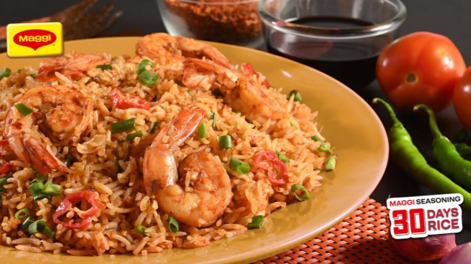 Hot garlic Prawn Rice