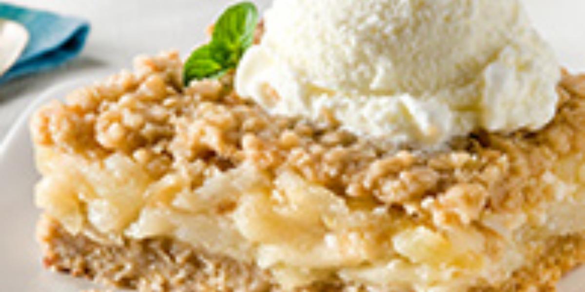 Torta Crumble de Manzana