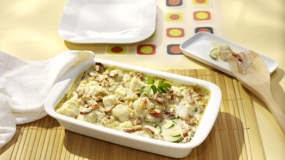 Steinbuttfilet mit Zucchini