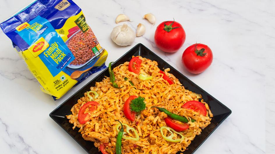 Maggi Devilled Chicken Broad Noodles Recipe
