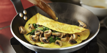Omelette with Mushroom and Spinach