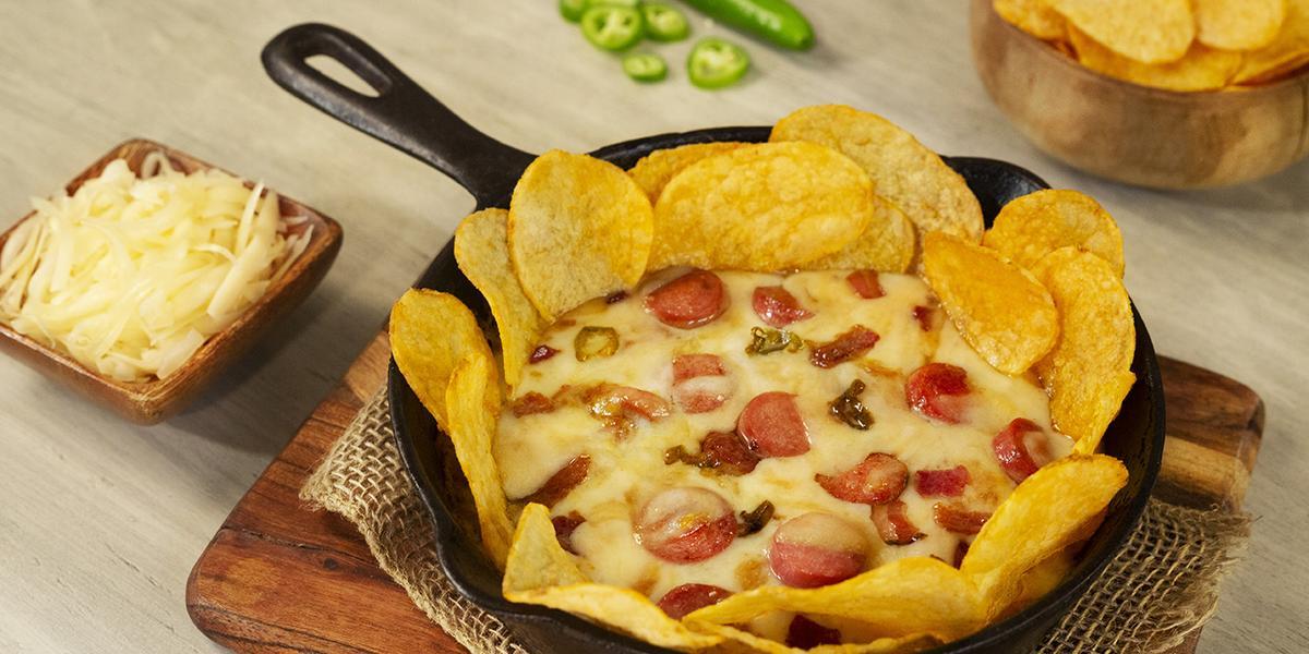 Sartén de queso con jalapeño