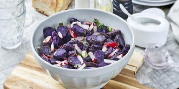 Lila Kartoffelsalat