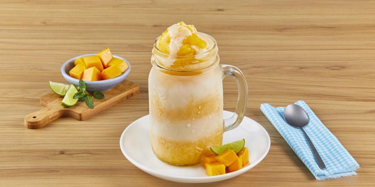 Frappé de mango con limón