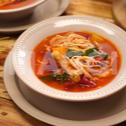 Soupe légère végétarienne aux nouilles