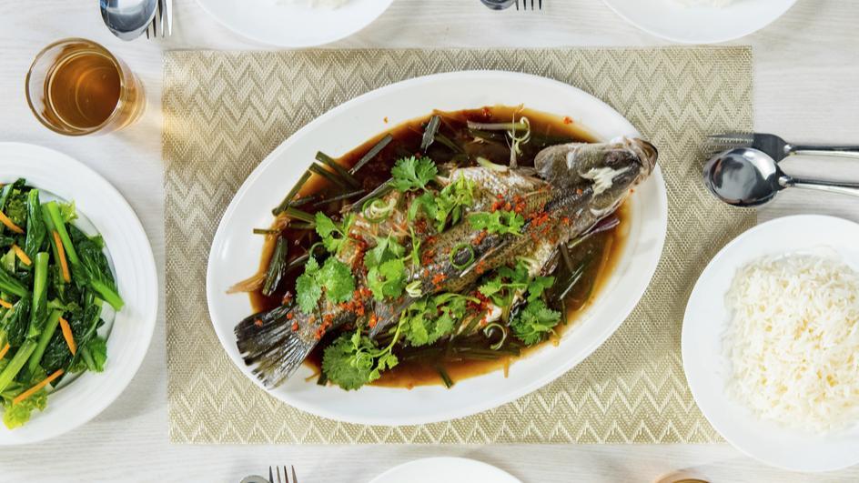 Ikan Kukus Halia dan Daun Bawang