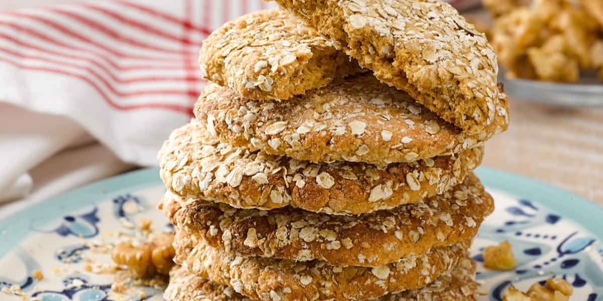 Galletones de Avena, Manjar y Nueces sin Gluten