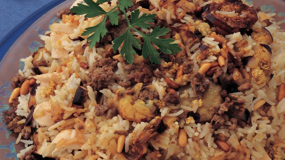 Chicken Maklouba with Eggplant