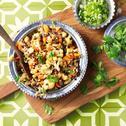Indiase linzencurry met wortel en bloemkool