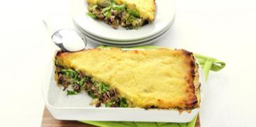 Andijvieschotel met gehakt en champignonsaus